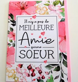 Greeting Card Soeur (in french only)