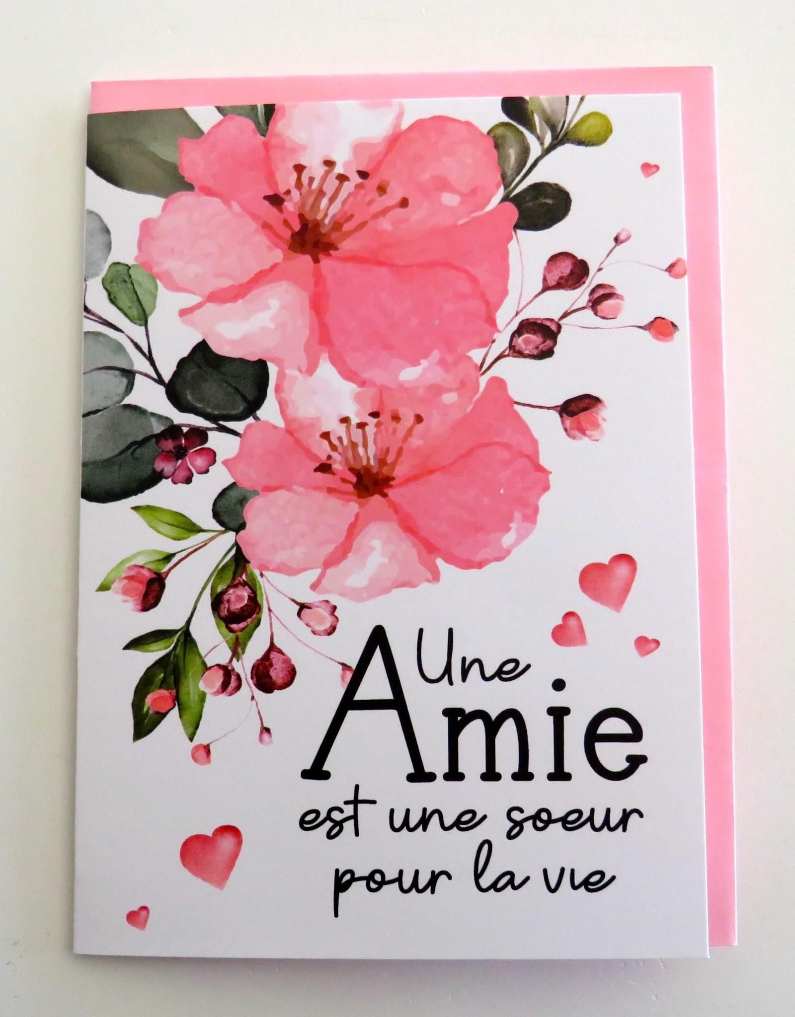 Carte de souhaits Amie