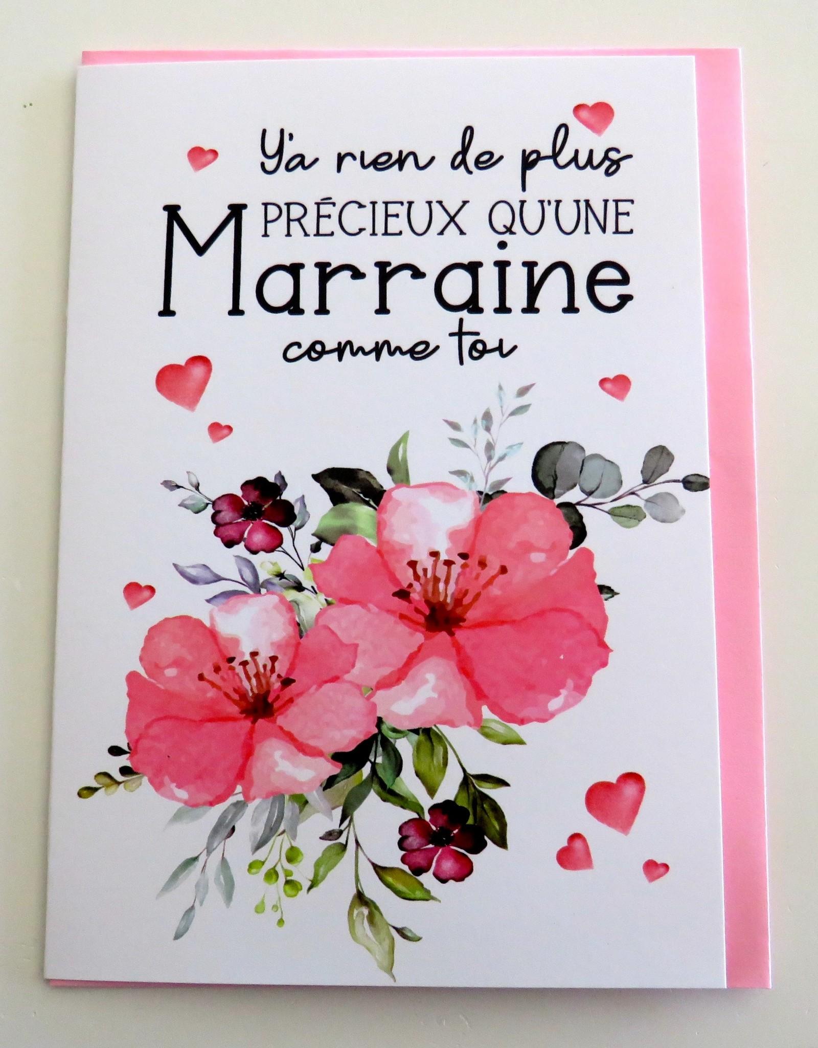 Carte de souhaits Marraine