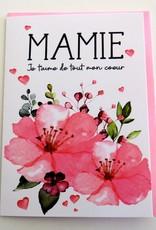 Carte de souhaits Mamie