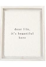 Dear Life Glass Plaque