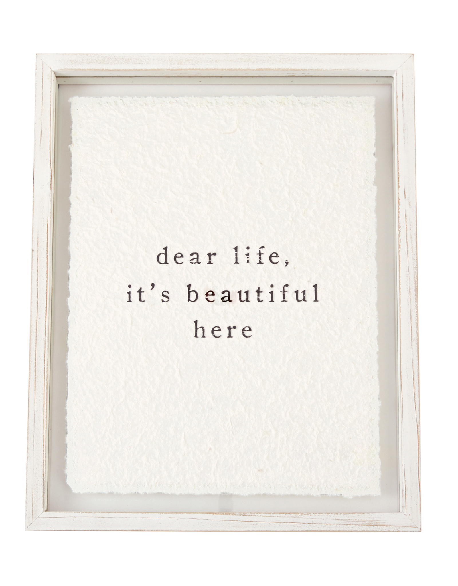 Cadre en verre Dear Life (en anglais seulement)