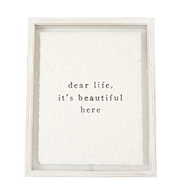 Dear Life Glass Plaque