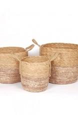 Blush/Natural Straw Basket (large)