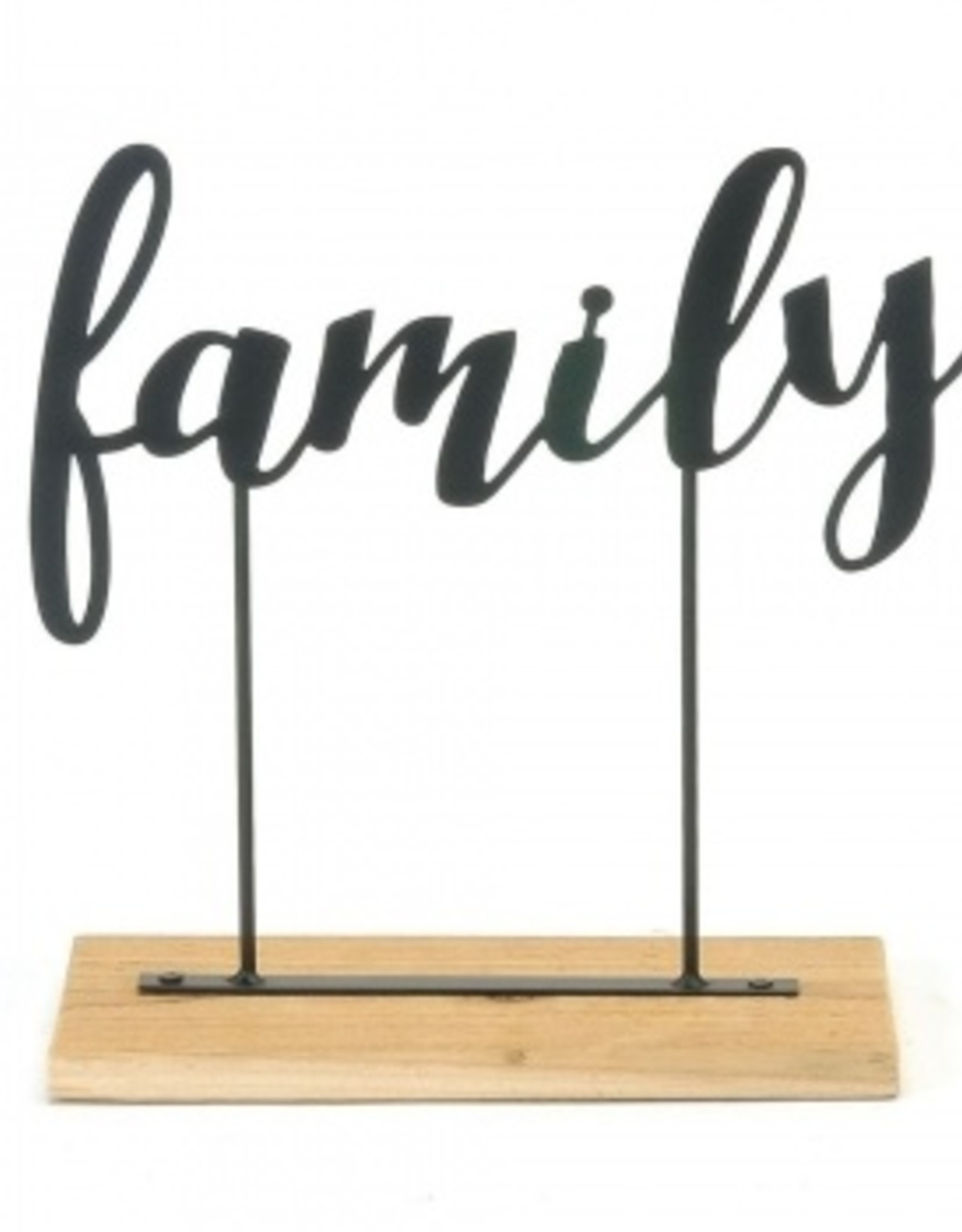 Wood and Metal Family Sign