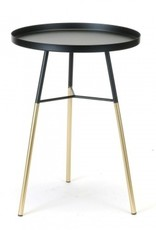 Side Table Blk/Gold