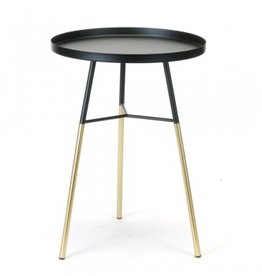 Side Table black/gold