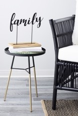Table d'appoint noir/or