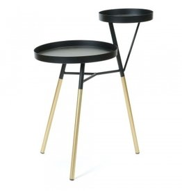 2 Level Side Table black/gold