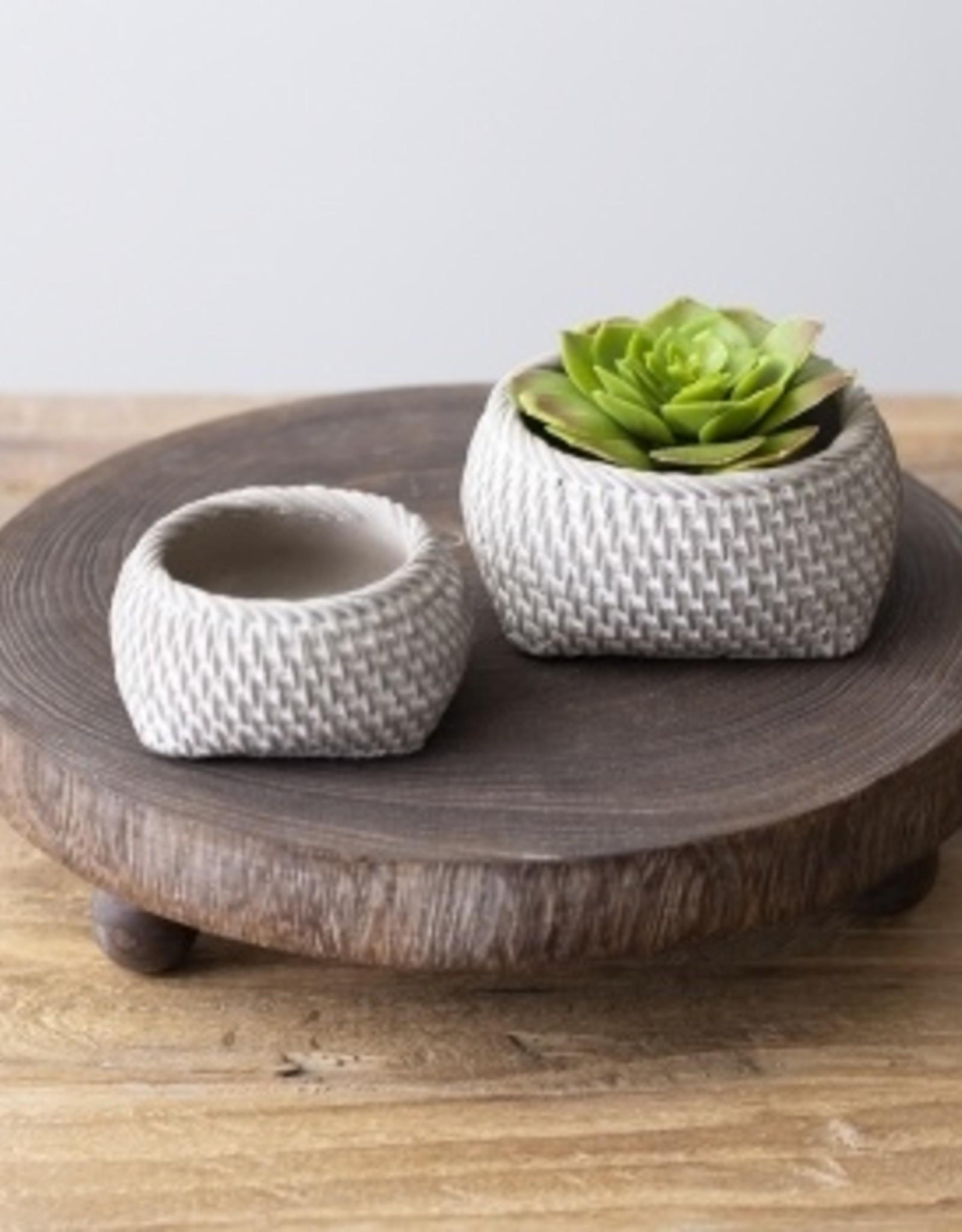 Cache-pot en béton pour succulent (petit)
