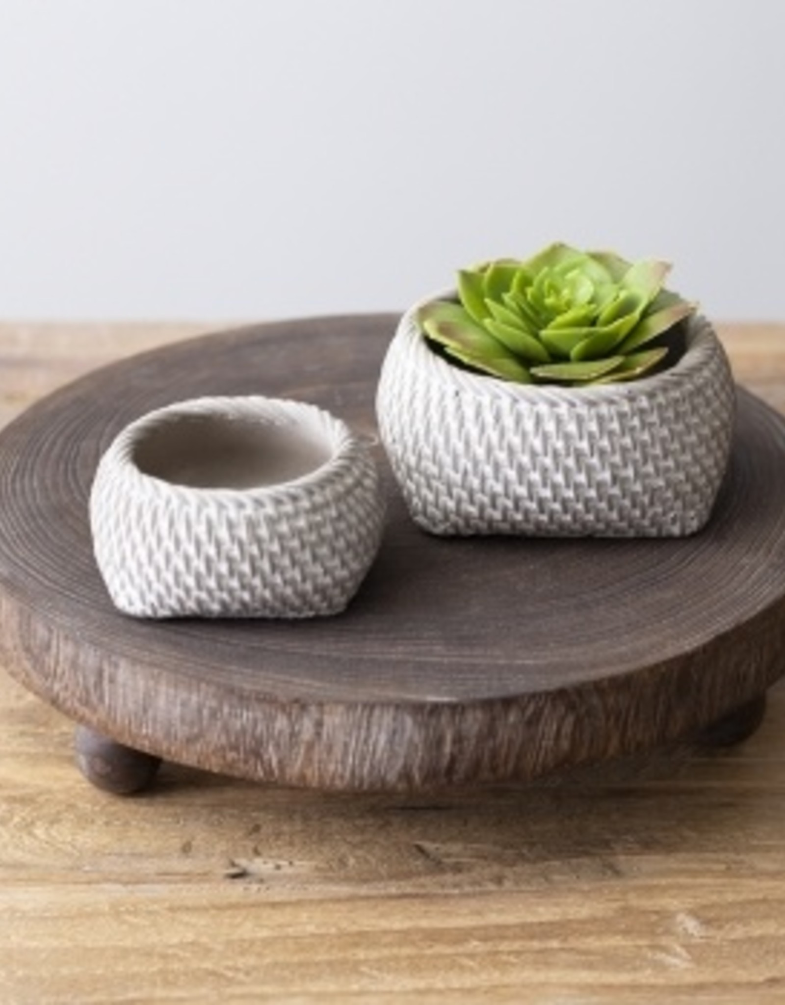 Concrete Weave Succulent Planter (small)