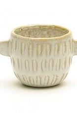 Pot blanc avec poignées (petit)