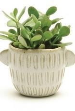 Pot blanc avec poignées (moyen)