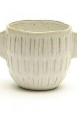 Pot blanc avec poignées (large)
