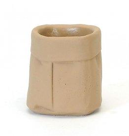 Paper Bag Concrete Planter (small)