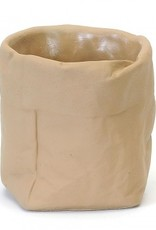Paper Bag Concrete Pot (large)