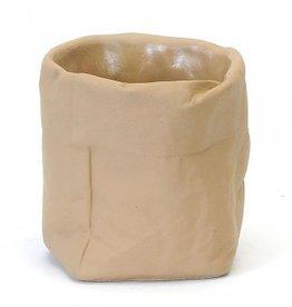 Paper Bag Concrete Pot (large)