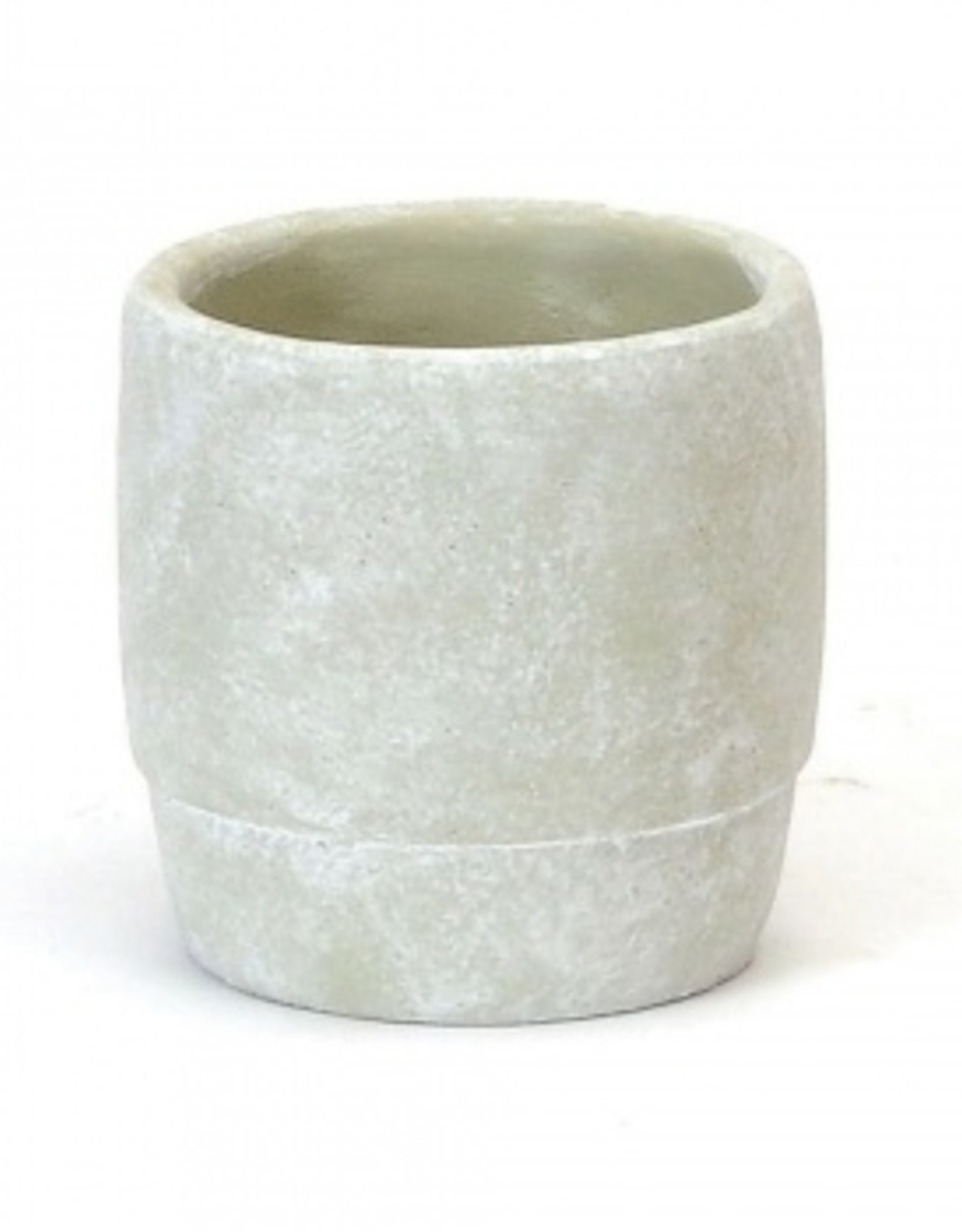 Round Concrete Planter with Cuff (small)
