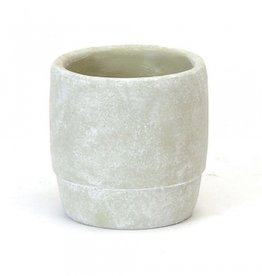 Round Concrete Planter with Cuff (small)