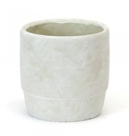 Round Concrete Pot with Cuff (large)