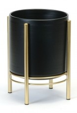Floor Planter Blk/Gold (small)