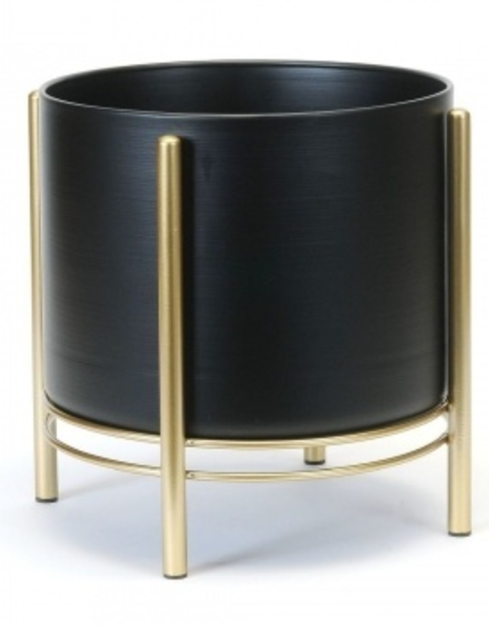 Floor Planter Blk/Gold (large)