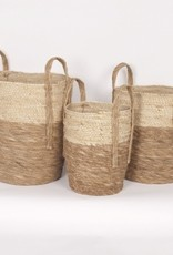Beige/Natural Straw Basket (medium)