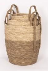 Beige/Natural Straw Basket (large)