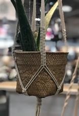 Ciment Hanging Macrame Seagrass Planter