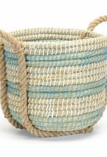 Grass Basket Blue/Wht
