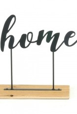 Wood and Metal Home Sign