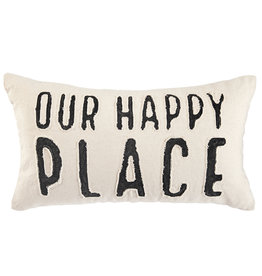 Happy Place Washed Canvas Pillow