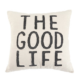 Good Life Washed Canvas Pillow