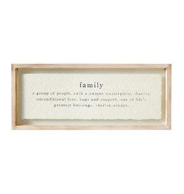 Cadre en verre Family (en anglais seulement)