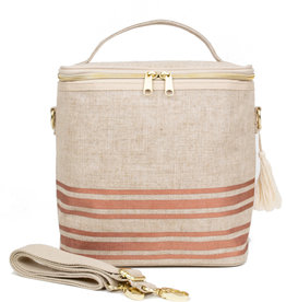Rose Gold Stripe Lunch Poche