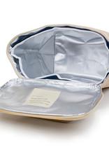 Boîte à lunch à rayures or rose