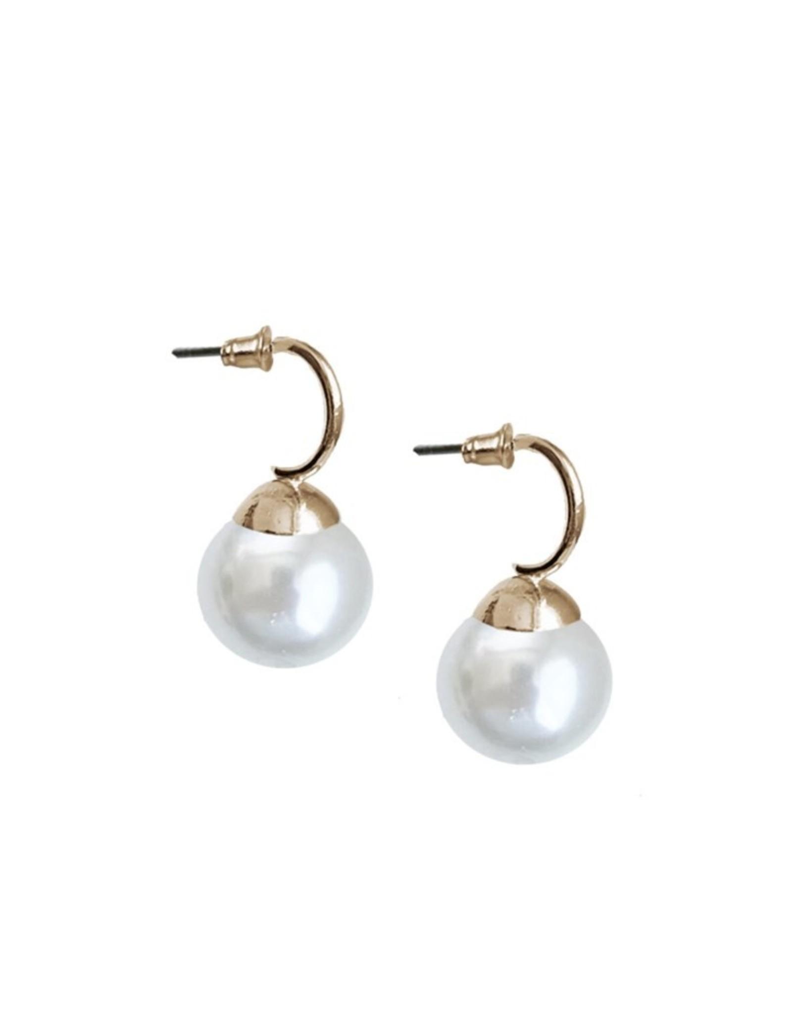 Drop Pearl Earrings-gold