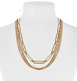 Chaines délicates avec maxi maille-or