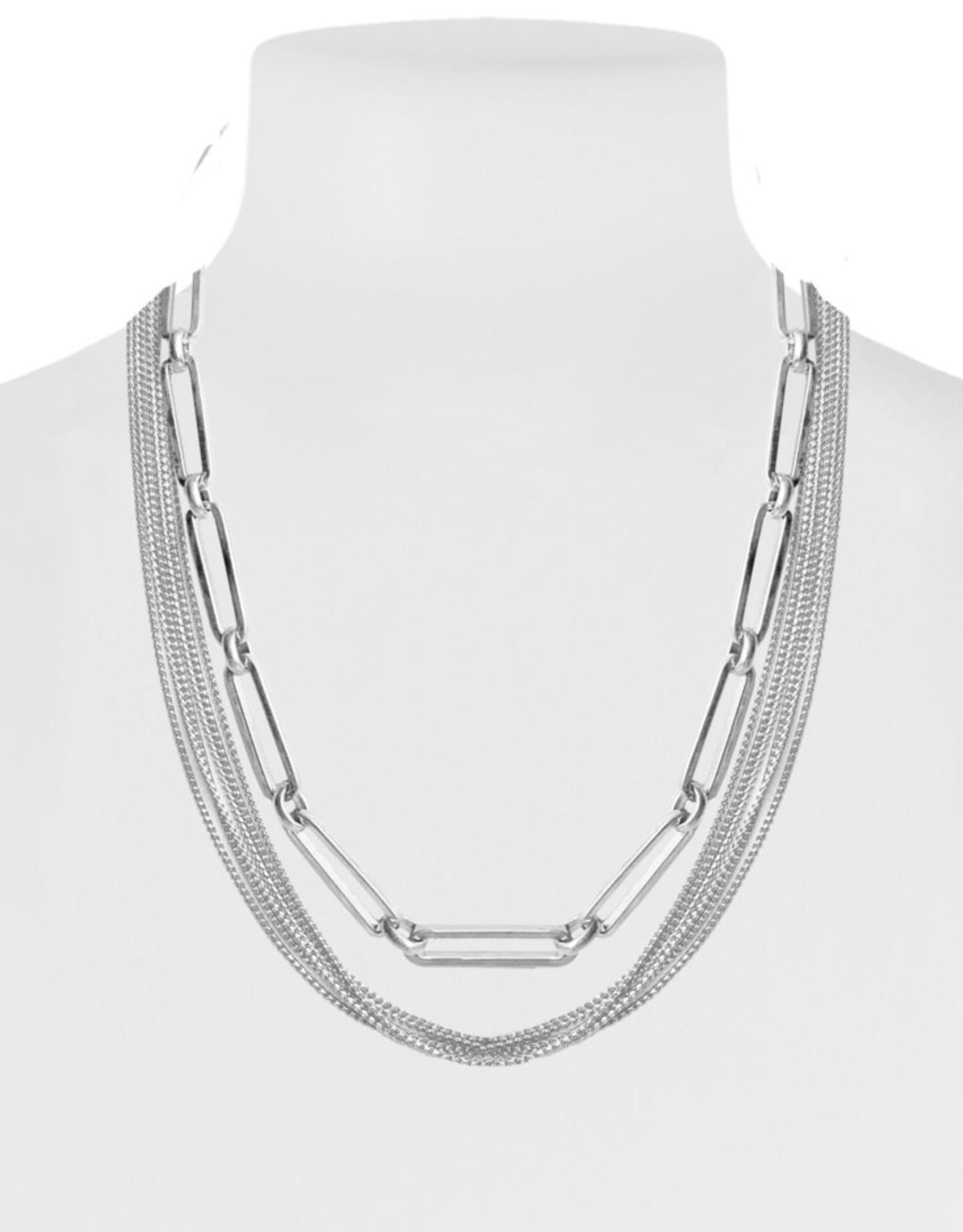 Chaines délicates avec maxi maille-argent