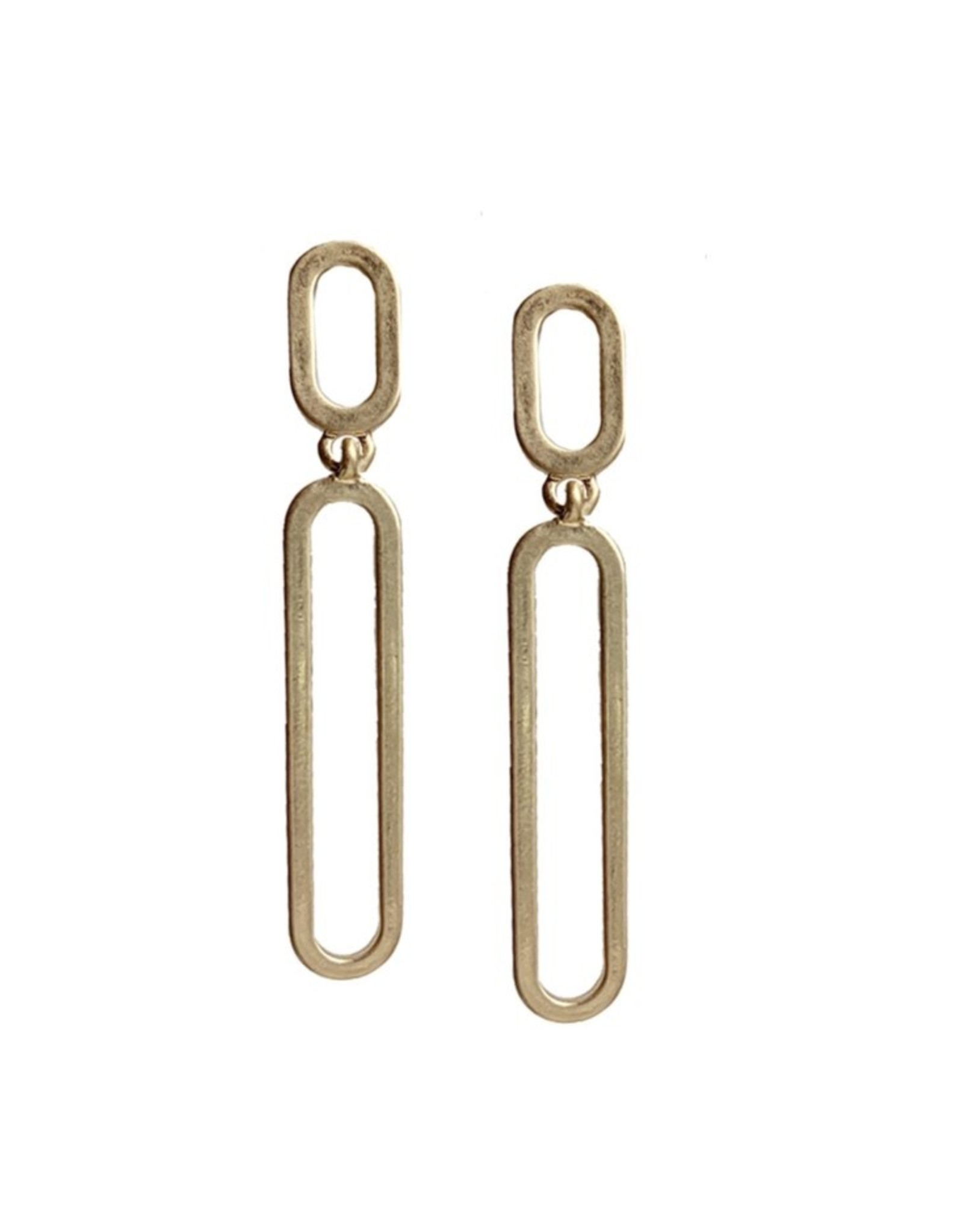 Boucles d'oreilles métalliques au fini usé-or