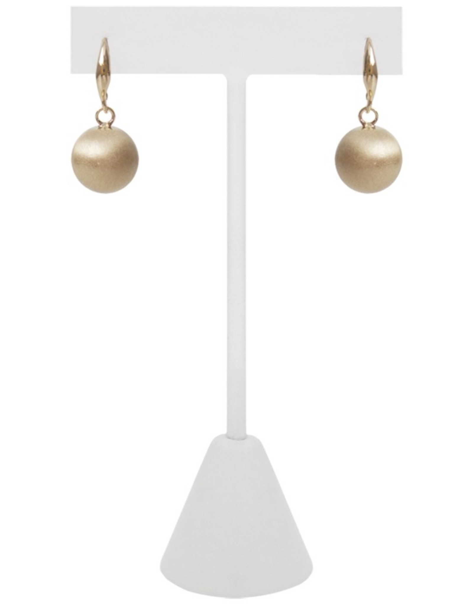Drop Earrings in Brushed Finish-gold