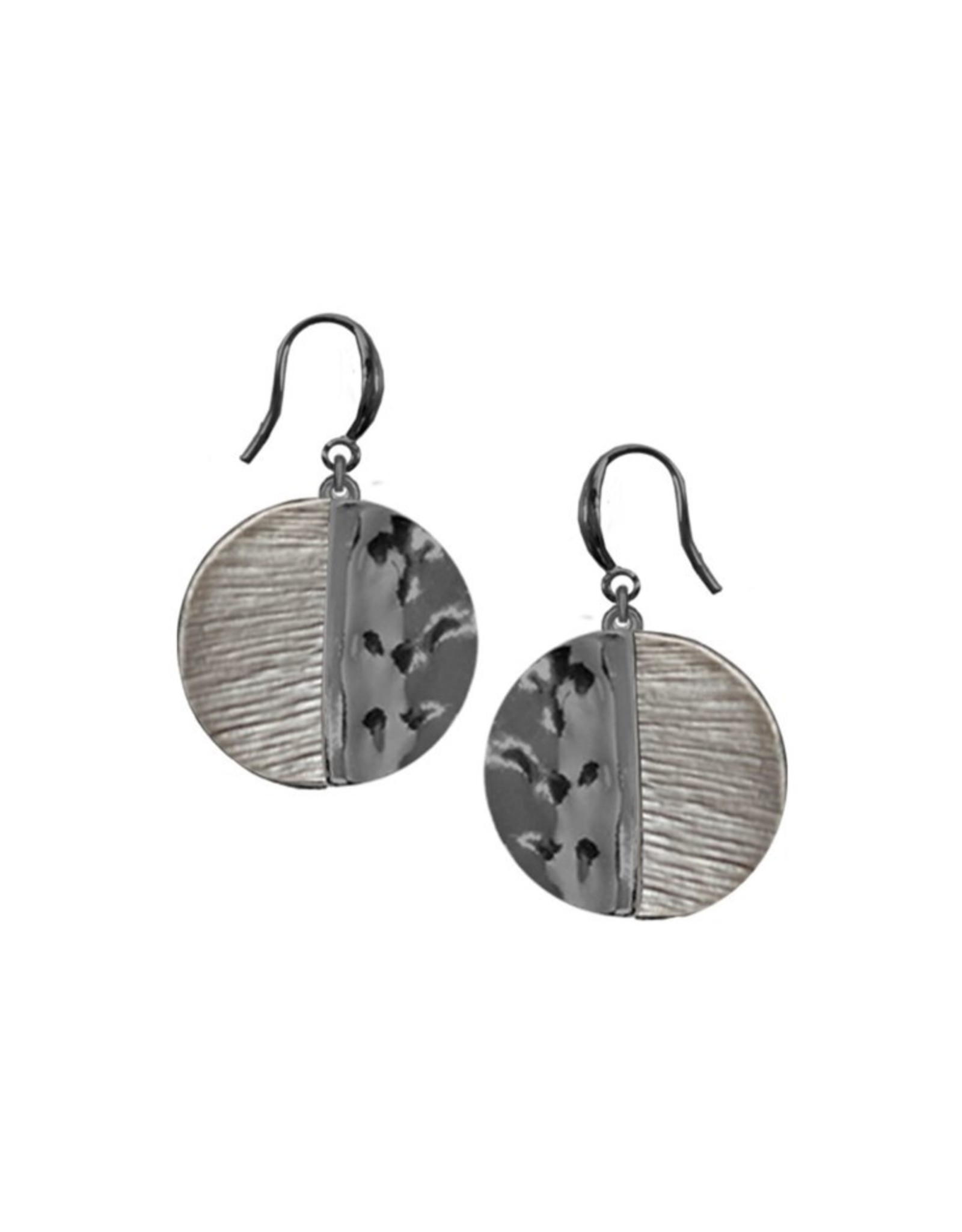 Hand Painted Metallic Earrings-coffee
