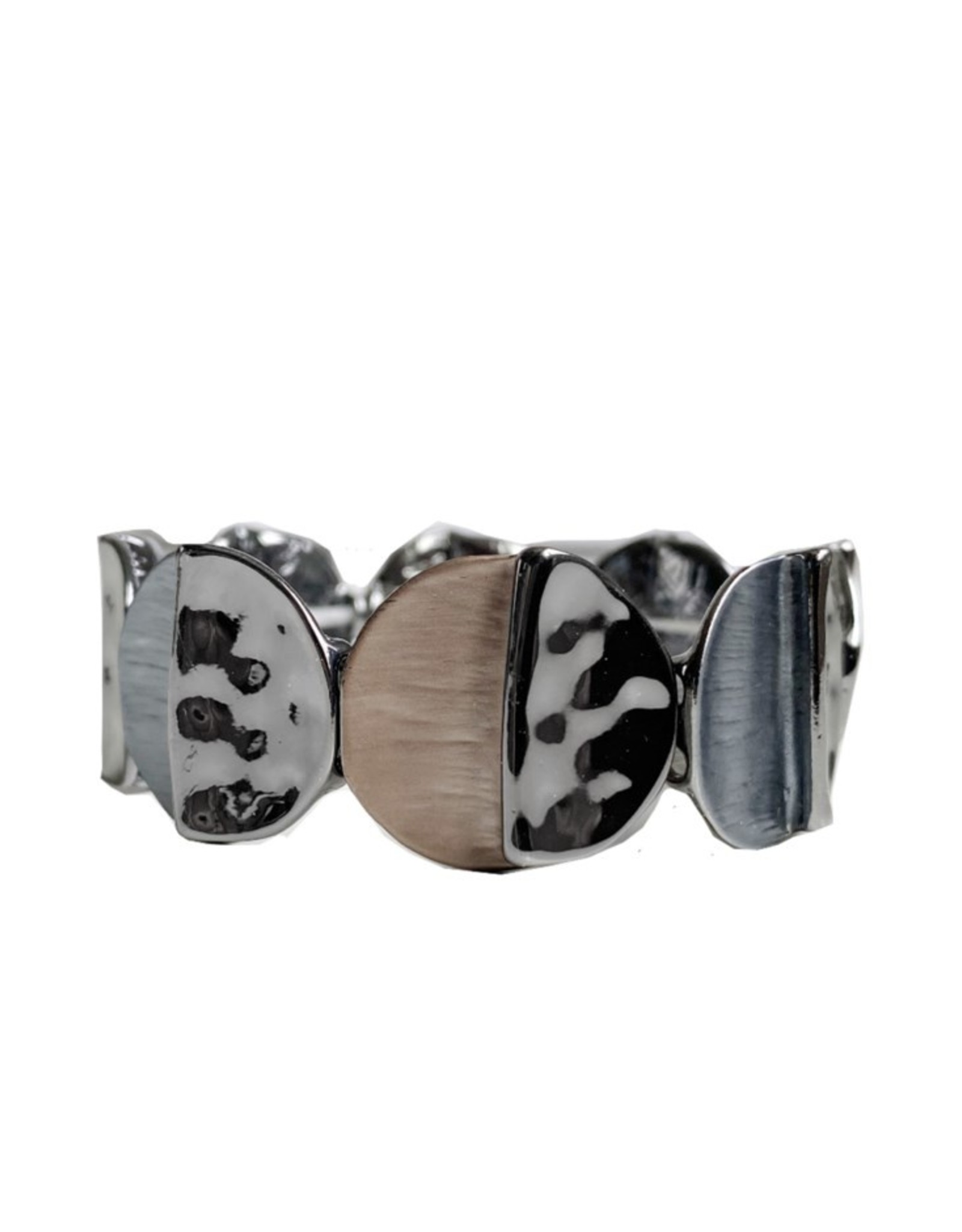 Hand Painted Metallic Stretch Bracelet-coffee