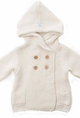 Crochet Knit Hoodie Ivory 12-18 months