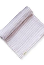 Couverture à rayure - blanc/rose