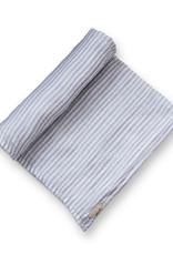 Couverture à rayures blanc/gris