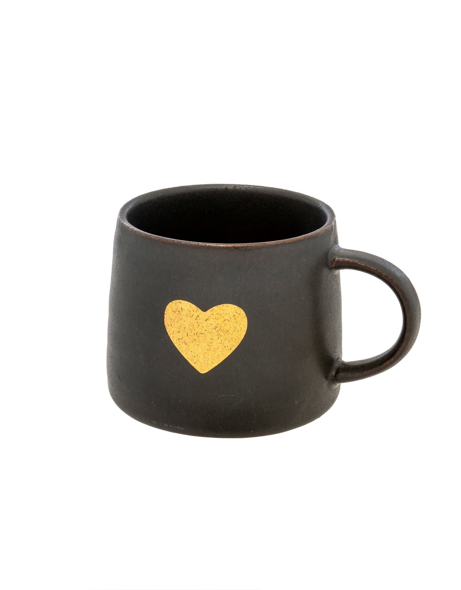 Tasse Gold Heart noir