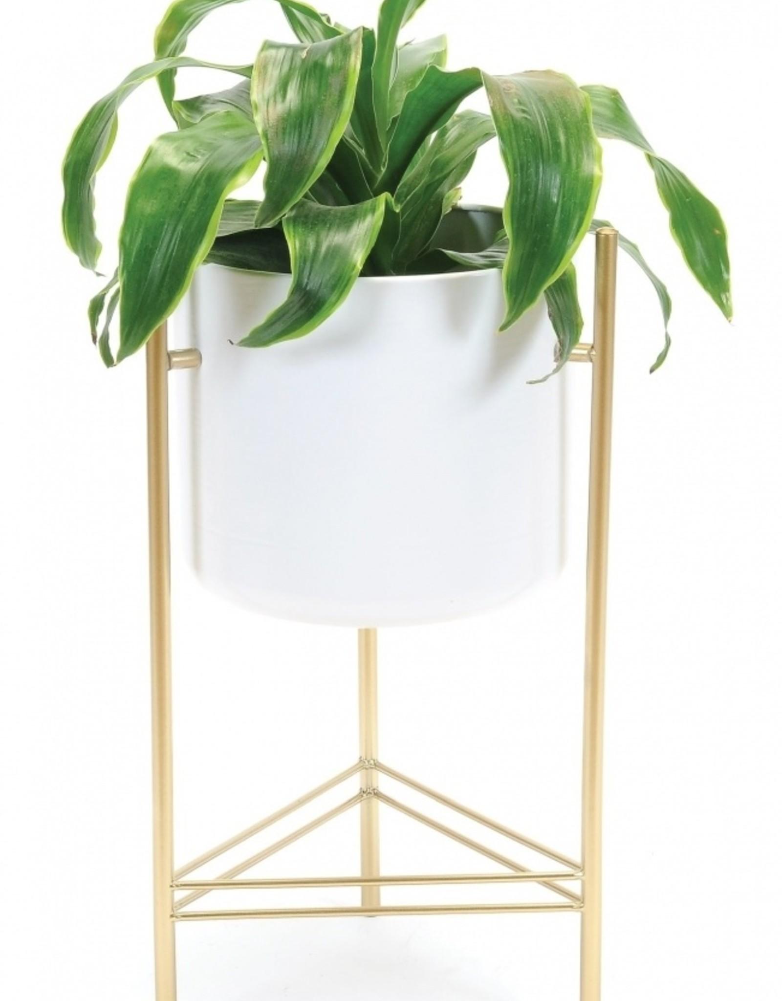 Modern Planter white/gold
