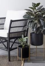 Modern Planter black/gold