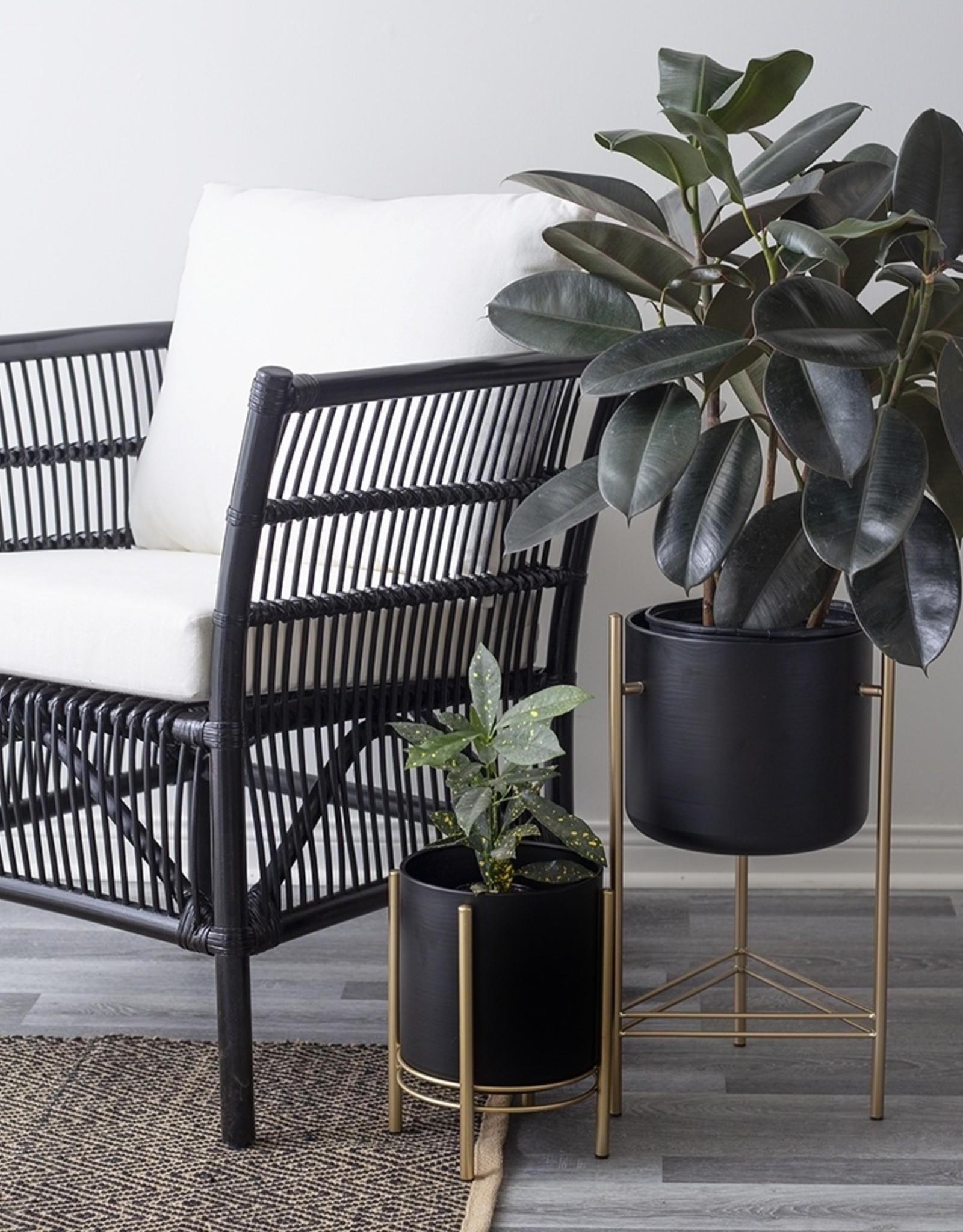Support pour plante noir/or